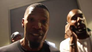 JAMIE FOXX MOCKS CONOR McGREGOR!! DOES IMPRESSION - REACTS TO FLOYD MAYWEATHER'S 10th TKO WIN
