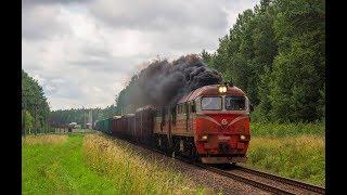 2М62К-0927 с грузовым поездом / 2M62K-0927 with a mixed freight train