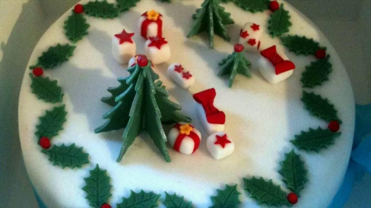 Christmas Cake Decorating Good Housekeeping : Xmas Cake Decorations - YouTube