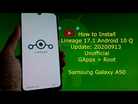 Galaxy A50: Lineage OS 17.1 Android 10 Q - Update 2020-09-13