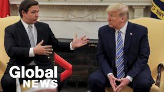 Coronavirus outbreak: Trump meets with Florida Gov. DeSantis as state begins reopening | HIGHLIGHTS