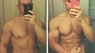 18% to 10% Body Fat in Three months While Gaining Muscle - Aggressive Fat Loss Transformation