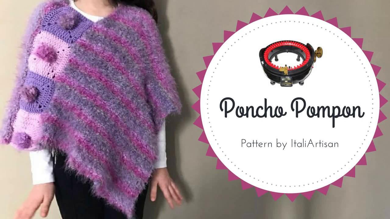 Ponchomantella Da Bimba Addi Express Tutorial Knitted Poncho