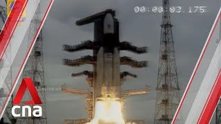 India launches spacecraft on Moon-landing mission