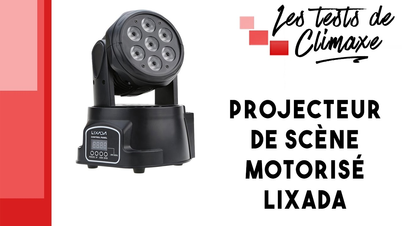 Test Lixada Motorisé D'un Dmx 512 De Scène Projecteur tshCxrdQ
