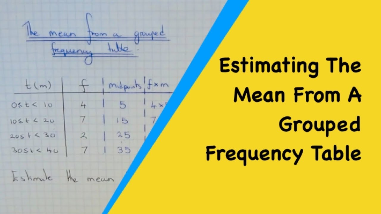 Estimating The Mean Average From A Grouped Frequency Table Hd Video