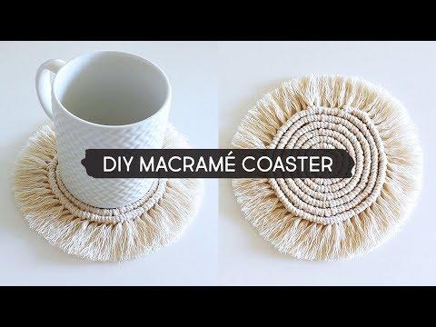 DIY Macramé Coaster