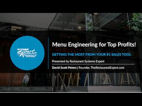 Free Webinar: Menu Engineering for Top Profits!