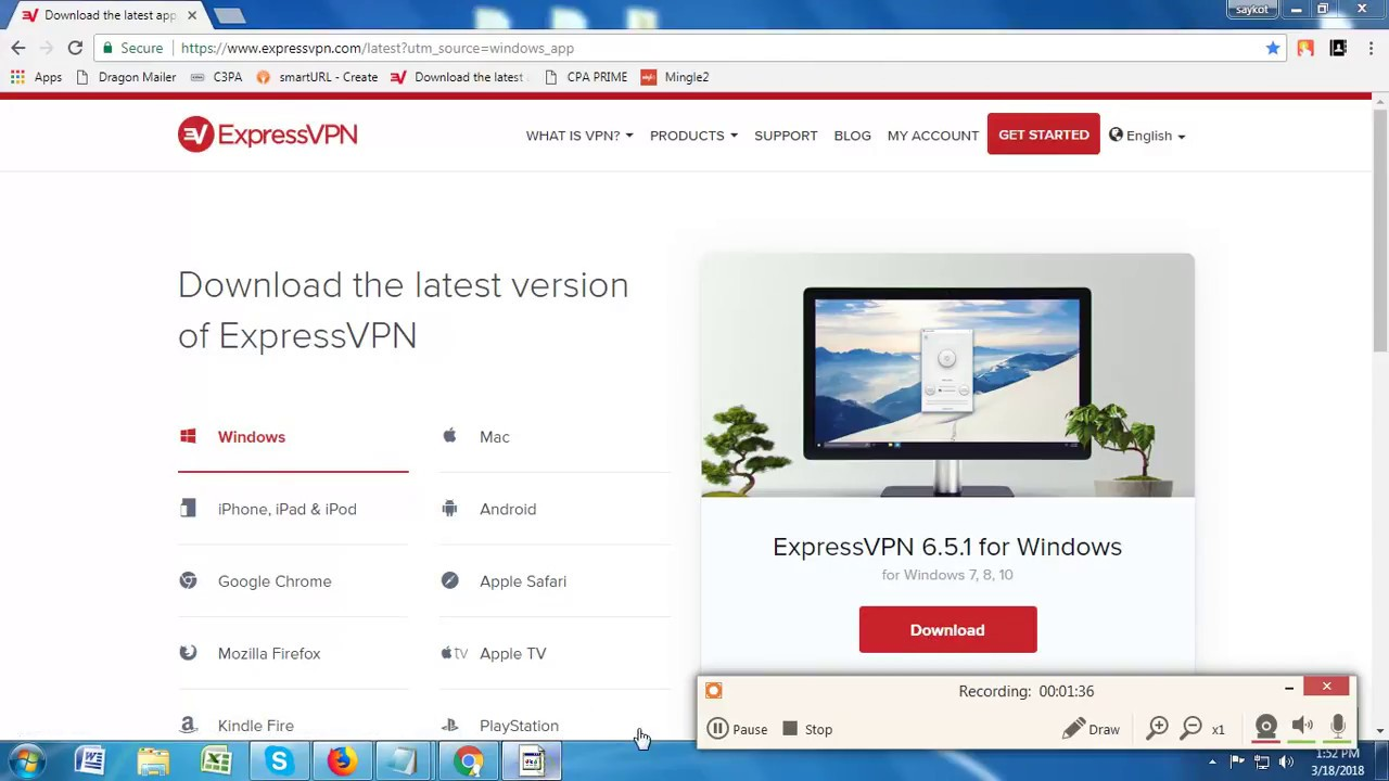 How to Download free express vpn