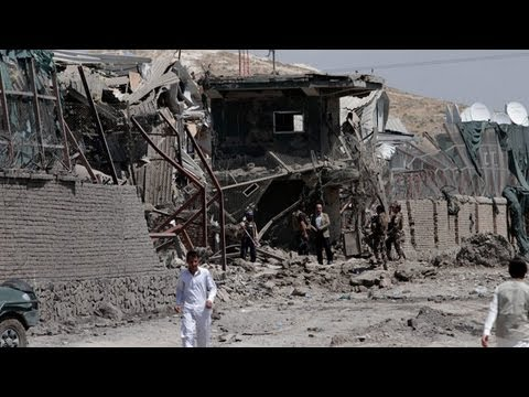 Taliban insurgents attack foreign supply compound in Kabul