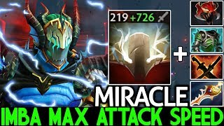 MIRACLE [Sven] Unreal Damage Max Attack Speed Crazy Gameplay 7.25 Dota 2