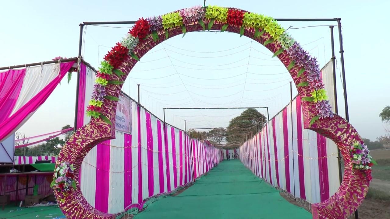 main gate light decorationshree ganesh tent bidoli - youtube