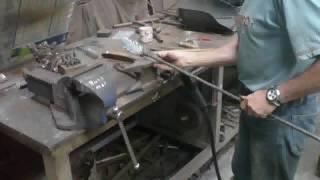 Making a wrought iron oak tree