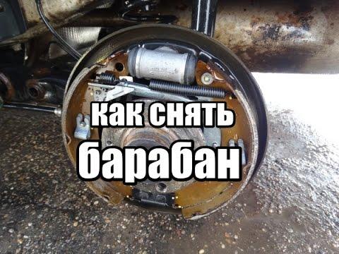 как снять тормозной барабан PR-1KH / VW polo sedan, пробег 45,000км