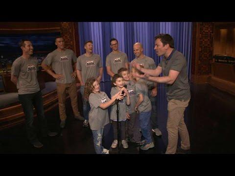 KC@NYY: Yanks surprise HOPE Week kids with SNL tour