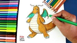 Cómo dibujar a Dragonite (Pokémon GO) | How to draw Dragonite (Pokemon GO)
