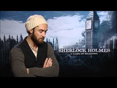 Sky News Interview with Jude Law 'Sherlock Holmes: A Game Of Shadows'