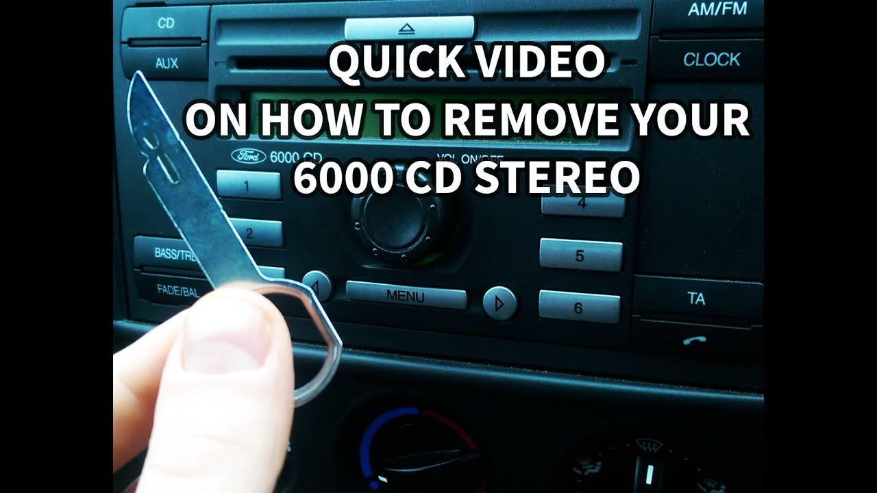 How to remove ford 6000 cd all ford models aux install youtube how to remove ford 6000 cd all ford models aux install cheapraybanclubmaster Choice Image