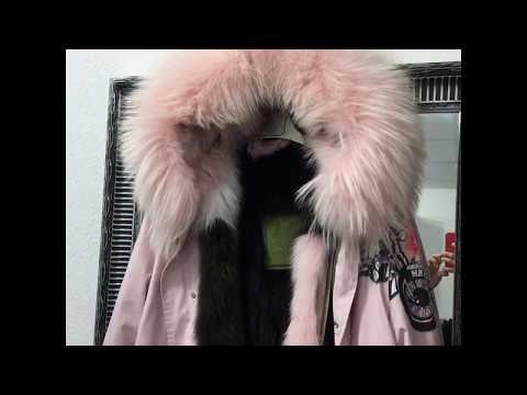 видео: Куртка парка женская с натуральным мехом 2018