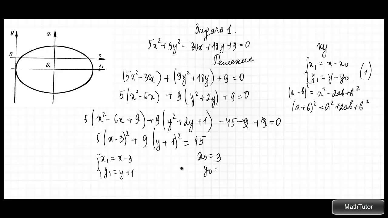 Кривая второго порядка решение задач решение старых и старинных задач