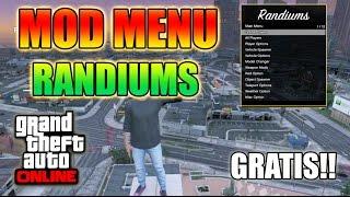 NUEVO MOD MENU ``RANDIUMS SPRX´´ EN 2.0 OPCIONES MUY UNICAS!! HACKS GTA 5 ONLINE