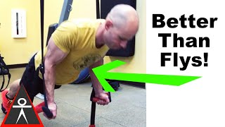 target your chest with underhand suspension push ups