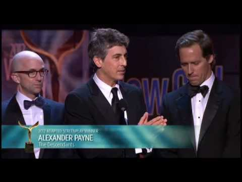 The Descendants' Alexander Payne, Nat Faxon & Jim Rash win the 2012 WGA Adapted Screenplay Award