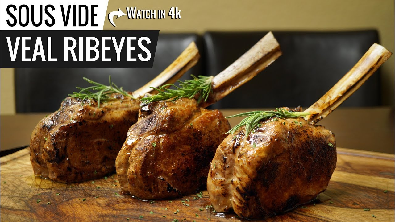 veal chop recipe sous vide Sous Vide VEAL BONE-IN RIBEYE with Veal Sauce!