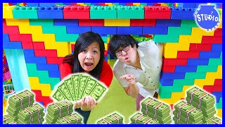 LAST TO LEAVE LEGO BOX FORT WINS $100,000 CHALLENGE
