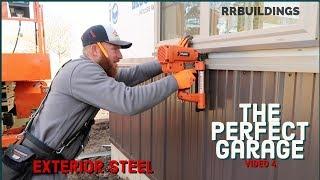 Best Garage Video 4 (roof steel and starting sidewalls)