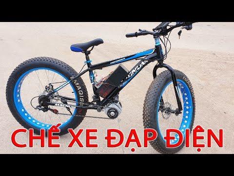 Chế XE ĐẠP ĐIỆN 40km/h Với Motor 48v 350w Brushless
