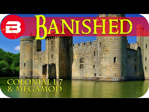 Banished Gameplay - CASTLE MOAT WORKS #11 - Colonial Charter