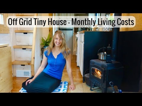 Life in a Tiny House called Fy Nyth - Monthly Living Expenses