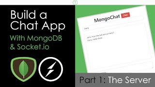 Build a Chat App With MongoDB & Socket.io [Part 1]