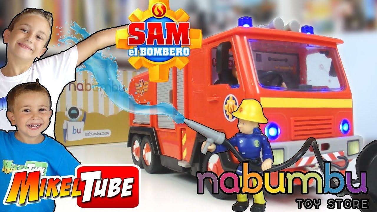 Camión De Sam El Bombero Juguetes Nabumbu Deluxe Jupiter Feuerwehrmann Sam Youtube