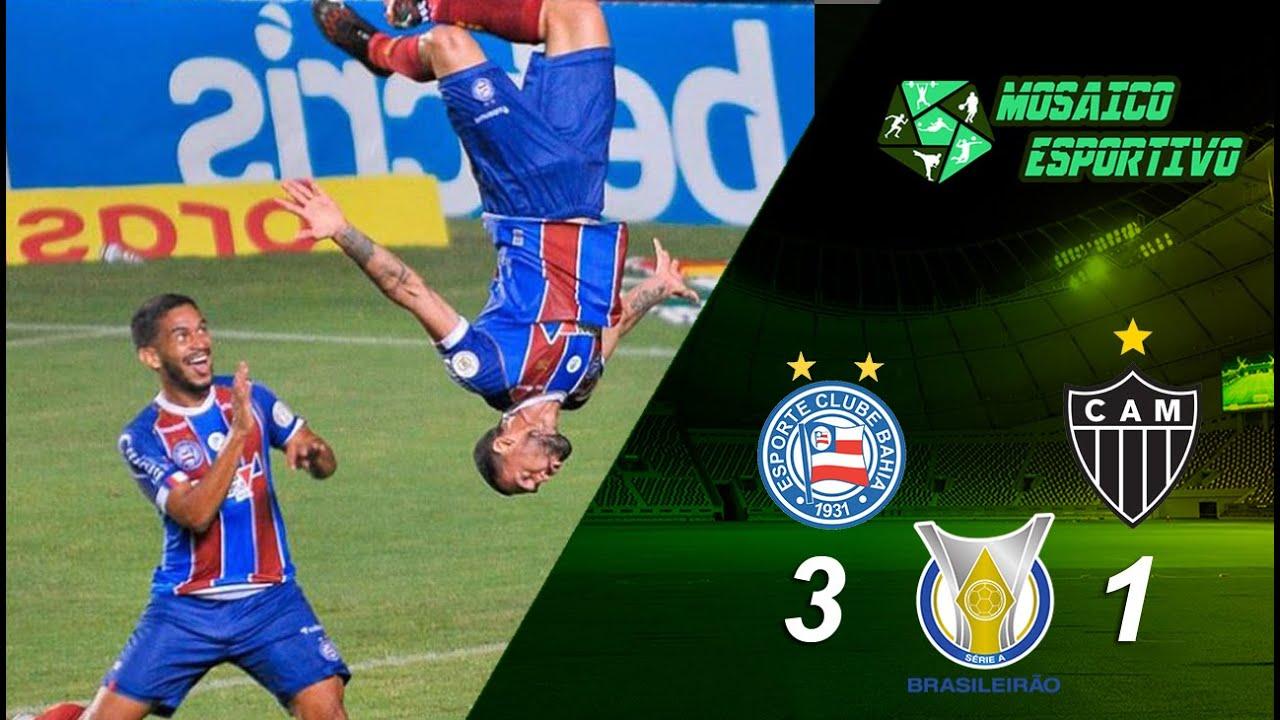Série A: Bahia vence Atlético-MG e se afasta da zona de rebaixamento