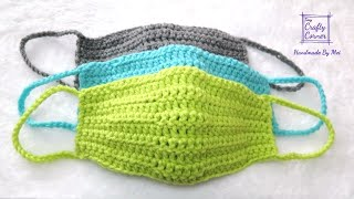 How to Crochet a Quİck and Easy Face Mask, Face Warmer