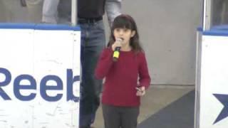 Elizabeth Hughes sings National Anthem at Admirals game