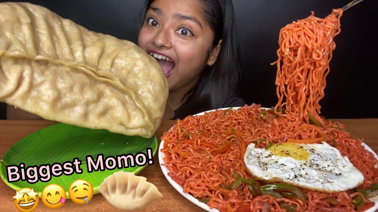 Download SPICY VEGETABLE MASALA MAGGI 🍝WITH BIGGEST MOMO EATING 🥟  BIG BITES MUKBANG   FOOD EATING VIDEOS
