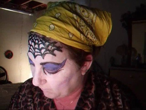 Face Painting Black Widow Spider
