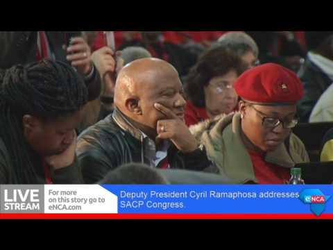 Ramaphosa addressesSACP Congress