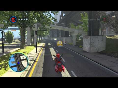 LEGO Marvel Super Heroes - Unlocking and Driving Deadpool's Scooter (Vehicle Token Location)