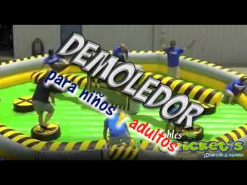 Demoledor inflables crickets youtube for Precios de piscinas inflables para adultos