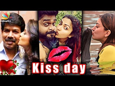 Kiss Day Special : Cute Celebrity Kiss Moments | Director Bala, Amala Paul