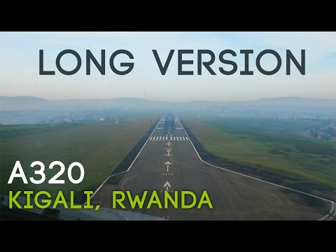 Amazing Pilotview A320 Cockpit Landing In Kigali | LONG VERSION HD