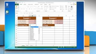 how to calculate percentages in excel 2013
