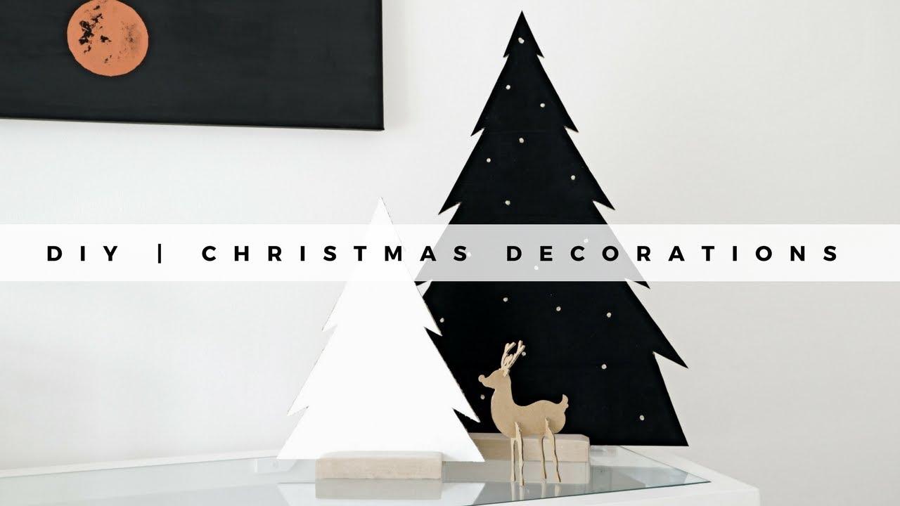 Diy Minimal Christmas Decorations Youtube