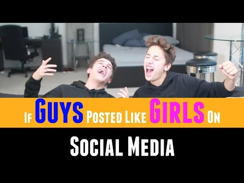If Guys Posted Like Girls Online 2 (w/ Juanpa Zurita) | Brent Rivera