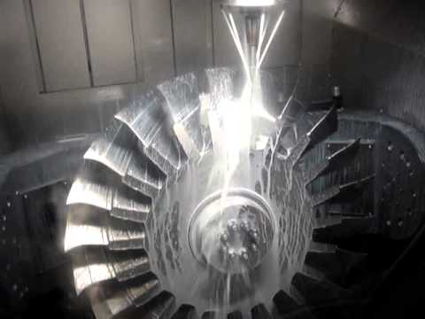 Titan Titanium Blisk Machining Fr 228 Sen Youtube