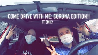 Corona Vlog: online school//drive with me!